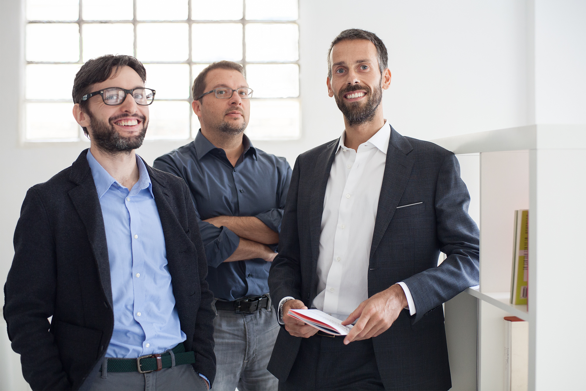 Studio Visuale, i co-founders: Daniele Balcon, Corrado Loschi, Francesco Pia