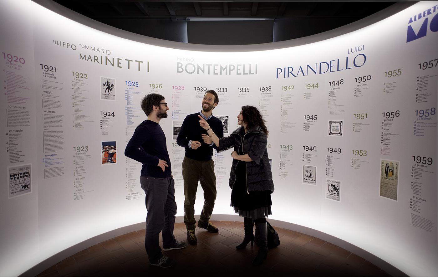 Daniele Balcon e Francesco Pia (Studio Visuale) con Renata Sansone (Zetema)
